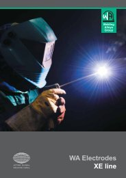 WA Electrodes XE line - The Welding Alloys group