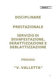 Allegato G AL CAPITOLATO - disciplinare servizio ... - ASL TO 1