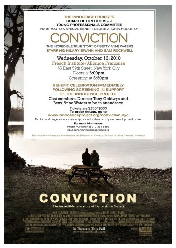 conVIcTIon - The Innocence Project
