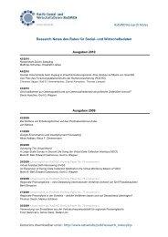 Liste aller bisher erschienen RatSWD Research Notes