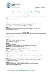 Working Papers Series des Rates für Sozial- und ... - RatSWD