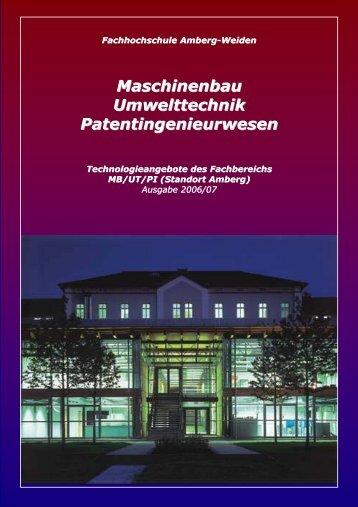 Maschinenbau Umwelttechnik Patentingenieurwesen