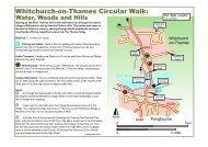 Whitchurch-on-Thames circular walk leaflet - The Chilterns AONB