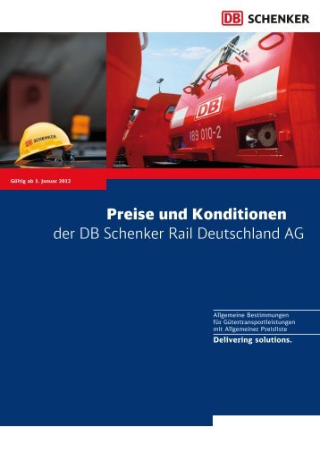 Preise und Konditionen der DB Schenker Rail Deutschland AG