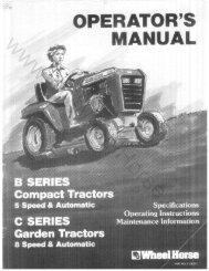 Wheel Horse B Series / C Series Tractor - MyWheelHorse.com