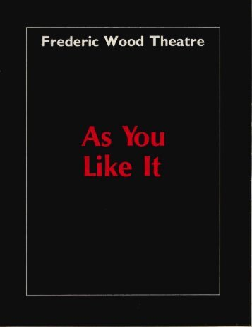 As You - Theatre at UBC - University of British Columbia