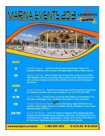 2013 events guide - Municipality of Leamington
