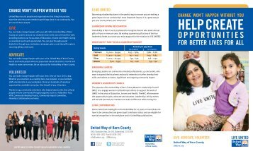 Tri-folder 2012 Campaign Brochure (PDF) - United Way of Kern ...