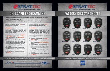 factorY direct remotes on-Board ProGramminG