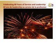 Celebrating 60 Years of Service and Leadership 60 ans de ... - SAVT