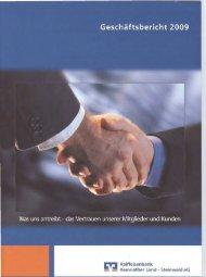 Geschäftsbericht 2009 - Raiffeisenbank Kemnather Land ...