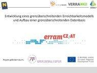 Ziele und Aktivitäten des Projektes ERRAM