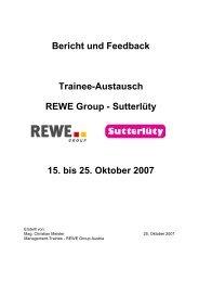 Bericht und Feedback Sutterl