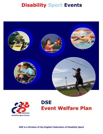 DSE Event Welfare Plan - English Federation of Disability Sport