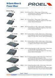 M-Serie Mixer & Power Mixer