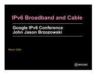IPv6 Broadband and Cable
