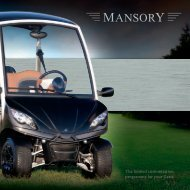 The limited customization programme for your Garia - Mansory