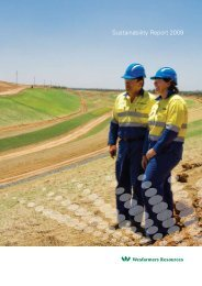 2009 Sustainability Report.pdf - Wesfarmers Resources