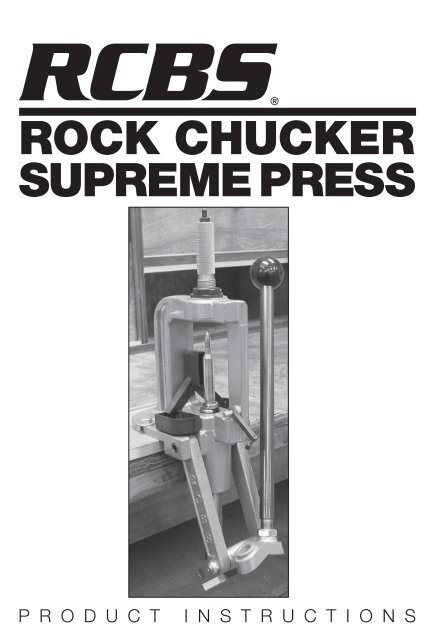 Rock Chucker Supreme Press Instructions Rcbs