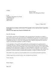 Erklärungen und CV des Kandidaten für die Wahl in den Aufsichtsrat ...
