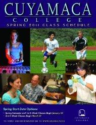 Spring 2011 - Cuyamaca College