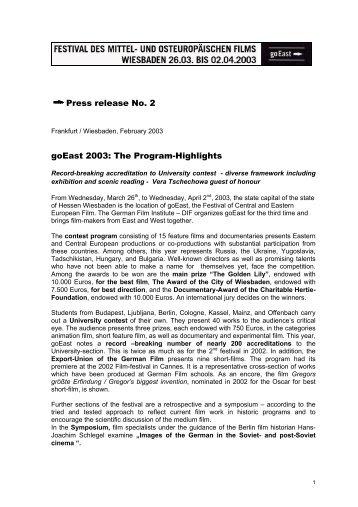 pdf-file - goEast - Deutsches Filminstitut