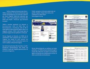 Tarifa e Integruar e Kosoves Sqarim për TARIK-Tarifa e Integruar e ...