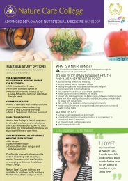 Advanced Diploma of Nutritional Medicine HLT61007 - Nature Care ...