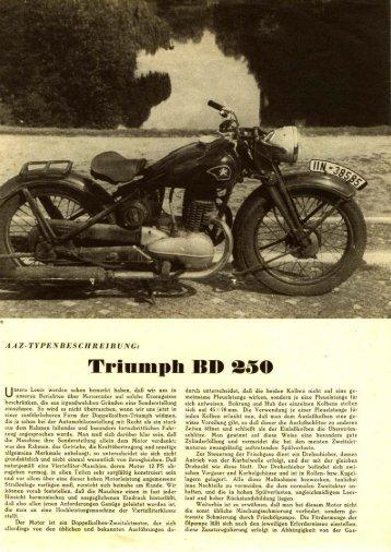 Prüfungsbericht über die Triumph BD 250 - TWN Zweirad IG