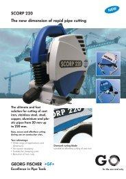 SCORP 220 Pipe Cutting Machine - R & B Welding Applications