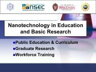 Nanotechnology in Education and Basic Research - Institute for ...
