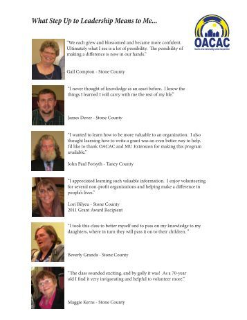 Read quotes from graduates! - oacac