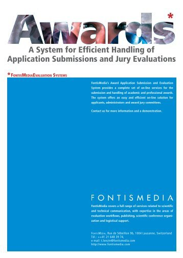 A System for Efficient Handling of Application Submissions and Jury ...