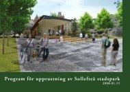 Program för upprustning av Sollefteå stadspark - Sollefteå kommun