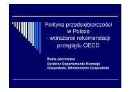 Polityka przedsiębiorczości w Polsce - Ministerstwo Gospodarki