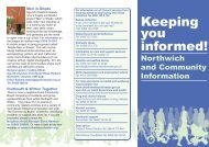 Witton and Rudheath Information Leaflet - West Cheshire Together