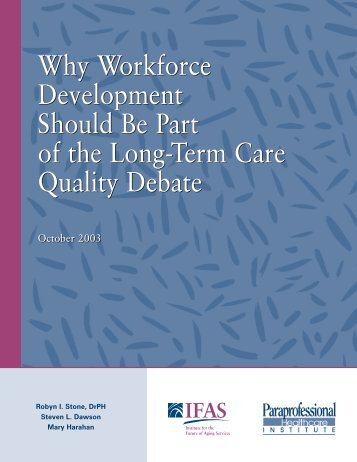Why Workforce Development Should Be Part of the - PHI