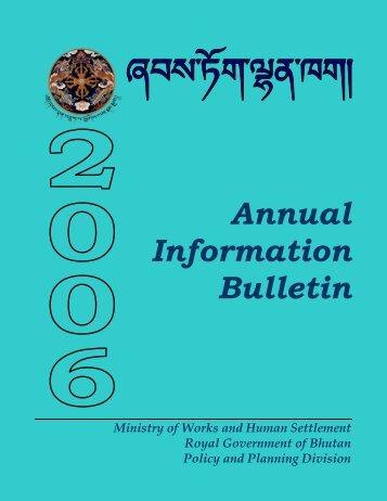 Annual Bulletin 2006