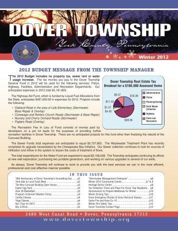 Winter Newsletter - Dover Township
