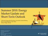 Summer 2010: Energy Market Update and Short-Term Outlook