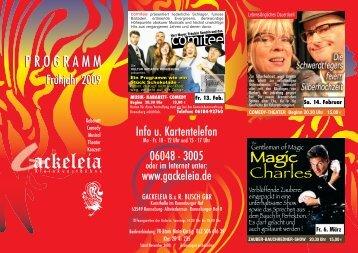 Spielplan Frühjahr 09 - Gackeleia