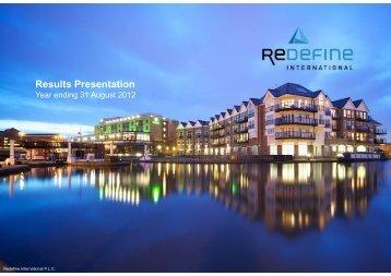 Results Presentation - Redefine International PLC