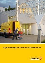 Logistiklösungen für das Gesundheitswesen - Die Schweizerische ...