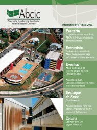 Destaque do Setor Coluna Parceria Entrevista Eventos - ABCIC
