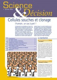 Cellules souches et clonage
