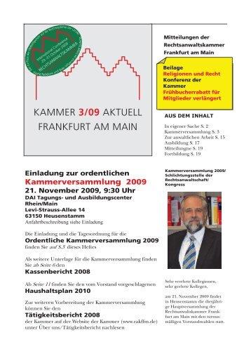 kammer 3/09 aktuell frankfurt am main - Rechtsanwaltskammer ...