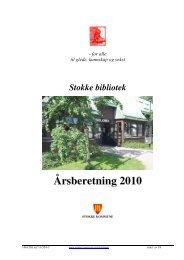Ã…rsberetning 2010 - Stokke kommune