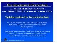 The Spectrum of Prevention training slides - Prevention Institute