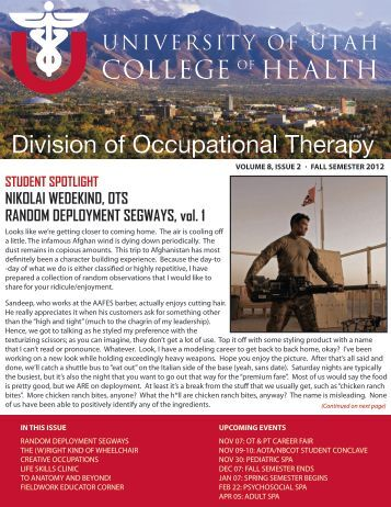 Newsletter Fall 2012 - College of Health