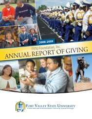 2010 Annual Report of Giving - Fort Valley State University